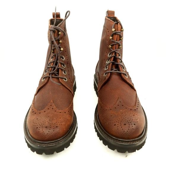 0b9f3c5895c Wolverine 1883 Percy Pebble Grain Wingtip Boots